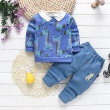 Conjuntos de ropa de primavera y otoño para bebés, abrigos de algodón informales, tops y pantalones, chándales de 3 uds.