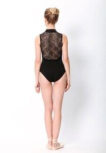 Image 5 - בלט בגדי גוף ריקוד נשים 2020 סגנון חדש הדפסת רוכסן התעמלות ריקוד תלבושות למבוגרים גבוהה צווארון בלט בגד גוף