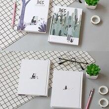 Simples e fresco 365 mão livro agenda plano capa dura cor página dentro do caderno