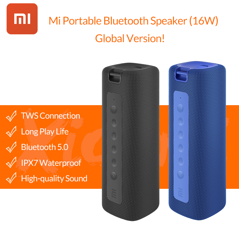 2020 nova xiaomi mi portátil bluetooth alto falante 16w tws estéreo super graves alto falante ipx7 à prova dwaterproof água ao ar livre mi|Alto-falantes portáteis|   -