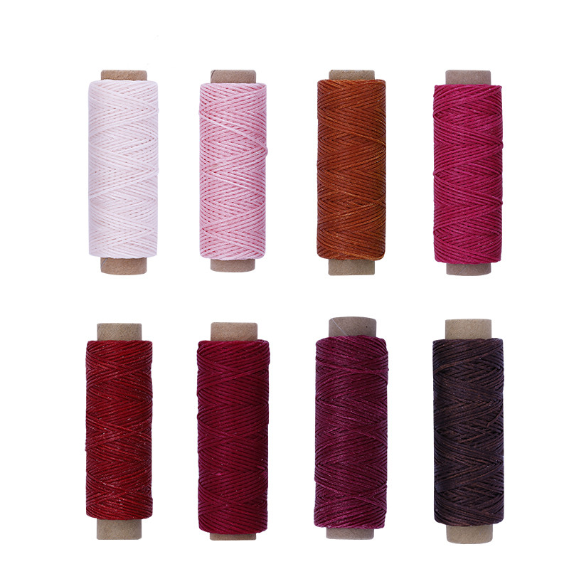 MIUSIE 150D 50M Leather Sewing Stitching Flat Waxed Thread String Cord Leather Sewing Waxed Thread Cord For Hand Leather Craft