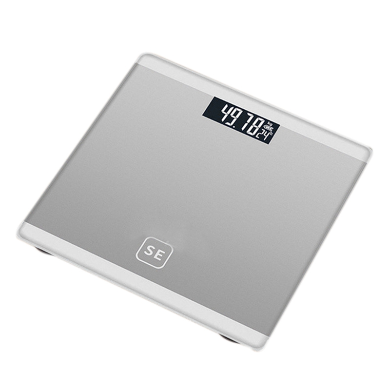Silver Digital Body Axunge Electronic Scale LCD Display Human Health Management Called Smart Balance Electronic Scale