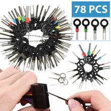 78Pcs Car Terminal Removal Tool Car Electrical Wiring Crimp Wire Plug Connector Extractor Release Pin Kit For CarPlug Repair
