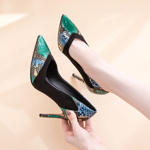 Genuine Leather Women Shoes High Heels Luxury Woman Pumps Po