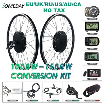цена на SOMEDAY Electric Bicycle Conversion Kit 48V 1000W/1500W Front BLDC Hub Motor 20/24/26/27.5/28/29 inch 700C Wheel For E-bike