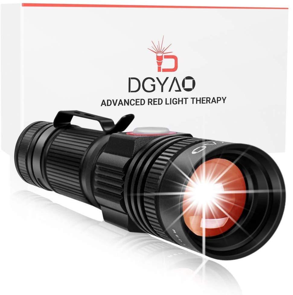 DGYAO 660nm LED dispositifs de thérapie par la lumière rouge soulagement de la douleur pour la guérison de la Texture de la peau des muscles articulaires et le traitement des blessures