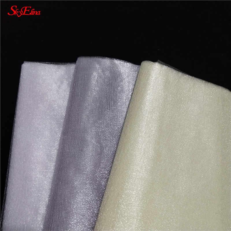 5/10m tul rollo tela carrete tutú cristal transparente Organza tul para la decoración de la boda del hogar Baby Shower DIY camisa de 48cm 5z