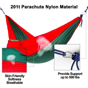 Image 4 - ultralight 1 2 person hammocks outdoor camping traveling hiking sleeping bed picnic swing tent single tent  Red, green 230*90CM
