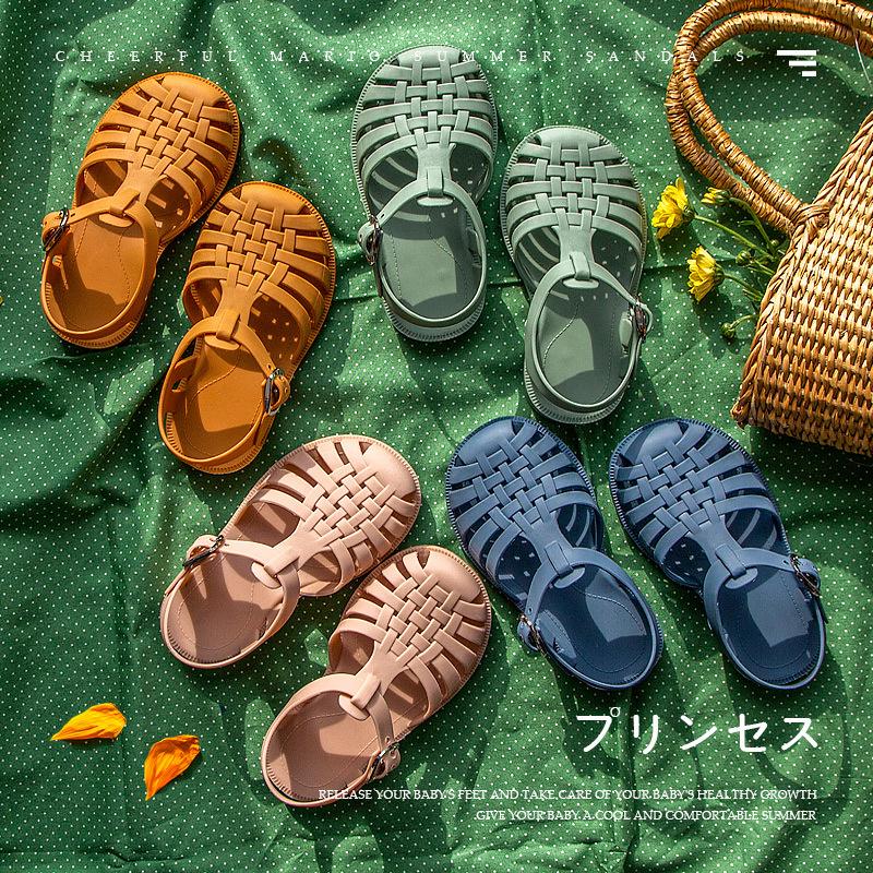Summer Children Sandals Baby Girls Toddler Soft Non slip Princess Shoes Kids Waterproof Beach Shoes Boys Casual Roman Slippers