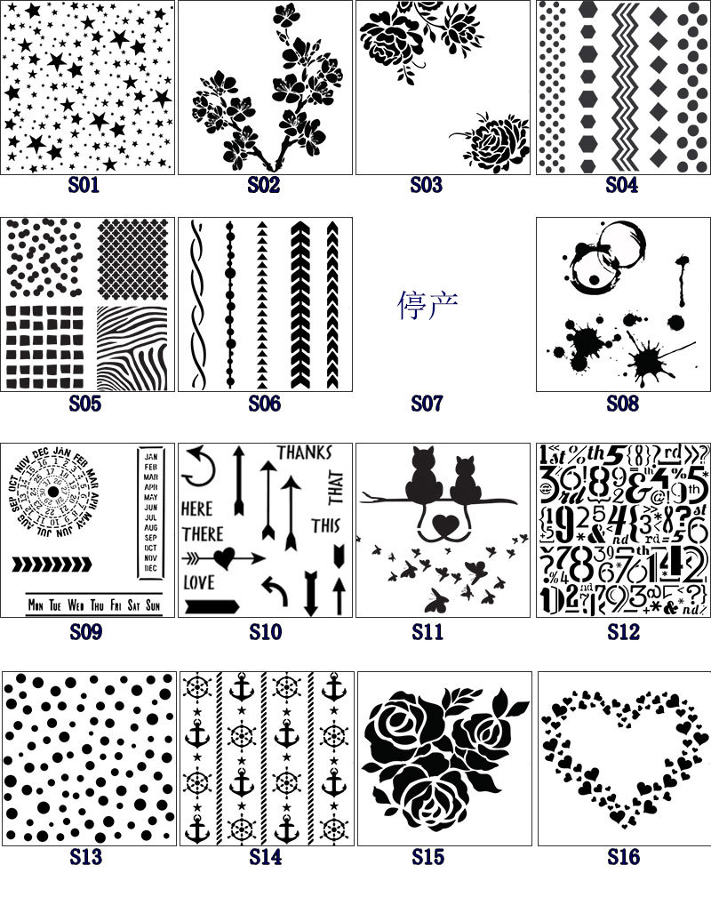 5pcs Creative Star Flower Pvc Layering Stencils For Diy Scrapbook Coloring,painting Stencil,home Deco DIY Paper Cards Crafts