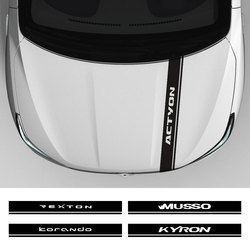 Auto Kap Motorkap Sport Stickers En Decals Voor Ssangyong Actyon Korando Kyron Musso Rexton Tivoli Auto Exterieur Accessoires