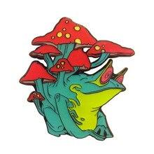 Crachá do pino do sapo do cogumelo