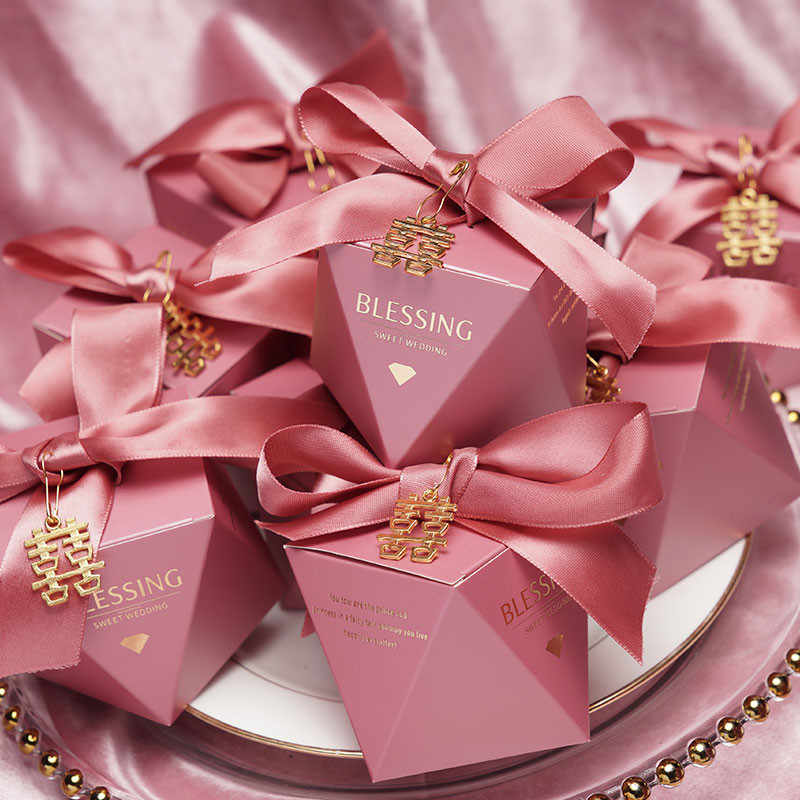 20 50 100pcs Diamond Wedding Favor And Sweet Gift Bags Candy Box For Wedding Baby Shower Birthday Guests Event Party Supplies Gift Bags Wrapping Supplies Aliexpress
