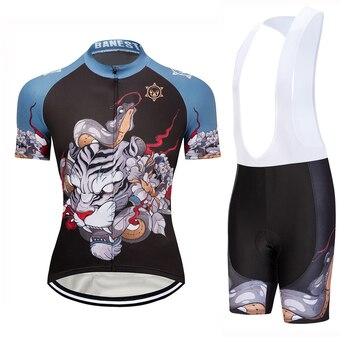 Banesto-Ropa de Ciclismo para Hombre, Conjunto de Jersey de Ciclismo de montaña,...