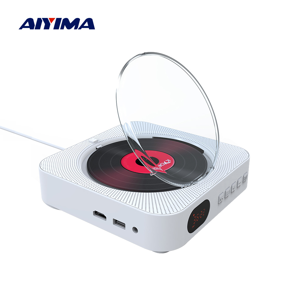 AIYIMA DVD Player Wall Mounted Bluetooth Speaker English Prenatal Education Home Audio Boombox HDMI For TV AV Bluetooth CD DVD