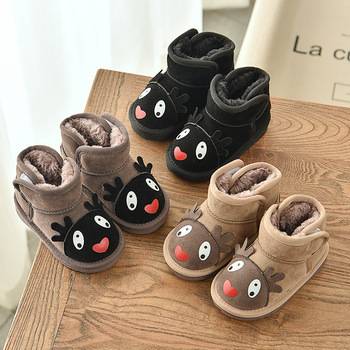 Winter Kids Child Plush Boots Infant Cotton Shoes Baby Girls Boys Snow Boots Warm Outdoor Children Boots Cartoon Non-slip Boots
