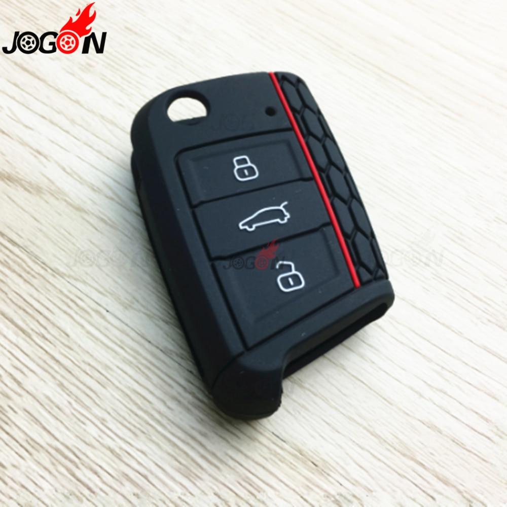 Car Rear Silicone Remote Smart Key Case Key Fob Holder Cover Trim For  VW Golf 7 GTI for Volkswagen Golf 7 MK7 Golf 7.5|Key Case for Car| |  - title=