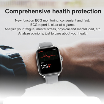 GEJIAN Smart Watch Men Women Bluetooth Call Smartwatch ECG Fitness Tracker Waterproof 1.69 inch touch screen For Android iOS 5