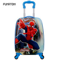 2 wheels Kids Suitcase Children Girls Spideman School backpack wheeled suitcase for kids Rolling luggage suitcase