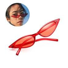 Lila Schwarz Rot Sonnenbrille Cateye Brillen Frauen Marke Designer Kleine Dreieck Vintage Sonnenbrille Retro Sexy Cat Eye Sonnenbrille