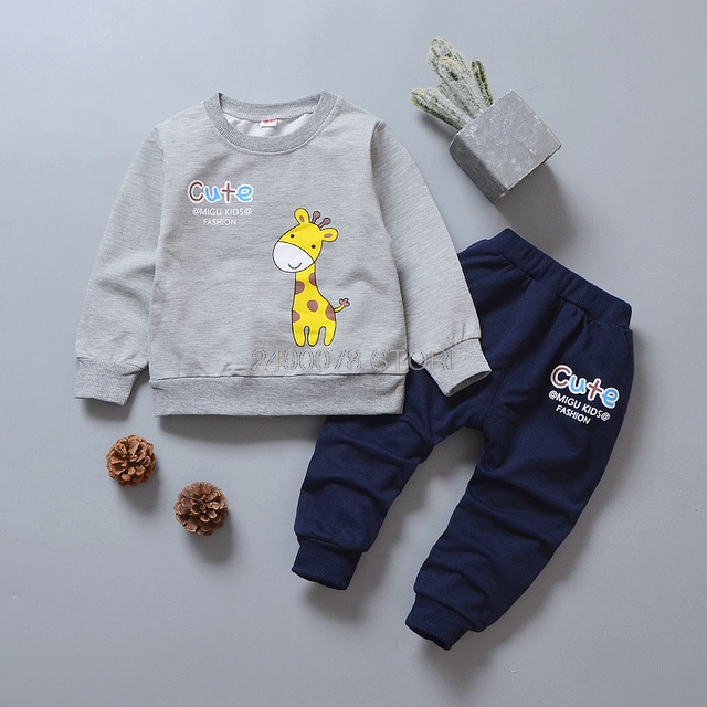 Baby Boys Girl Autumn Clothing Set Kids T shirt +Pants 2pcs Sports Tracksuit School Children Outfits Kids Birthday Gift Clothes 5