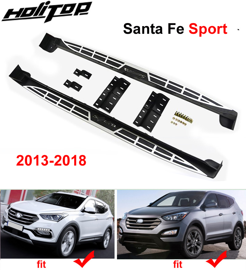 OE side bar running board board side step for Hyundai Santa Fe Sport 2013 2018 ISO9001 quality original style.quality supplier|Armrests| |  - title=