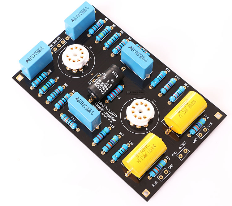 The latest version Classic Circuit <font><b>Tube</b></font> <font><b>Preamplifier</b></font> Preamp Board DIY Kits For 12AX7 / 21AU7 <font><b>Tube</b></font> Free ship image