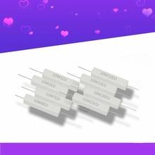 10W Ceramic Cement Resistor 5% 10 Pcs In A Pack 0.1R 0.5 1 2 3 4.7 10 20 50  100 Ohm 6.8k 0.25R 0.5R 3R 27R 12R 100R