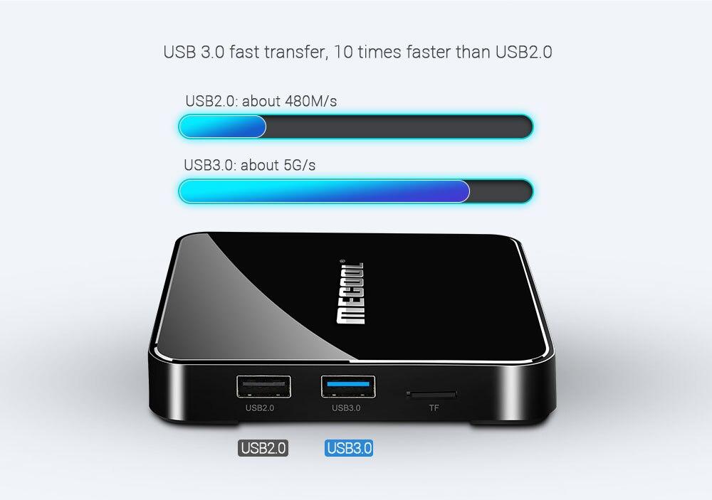 MECOOL KM3 ATV Androidtv Google certifié Android 9.0 TV Box 4GB 64GB 128GB Amlogic S905X2 4K 5G double Wifi BT4.0 KM9 PRO 4G 32GB - 5
