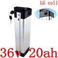 36V 500W 1000W Ebike батарея 36V 20AH Электрический велосипед батарея 36v 10ah 13ah 14ah 17ah 20ah 25ah 27ahlithium батарея использовать LG cell