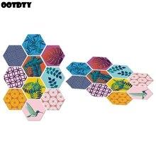 DIY Anti-Slip Floor Sticker Waterproof Colorful Hexagonal Tile Stickers Art Kitchen Bathroom Home Nonslip