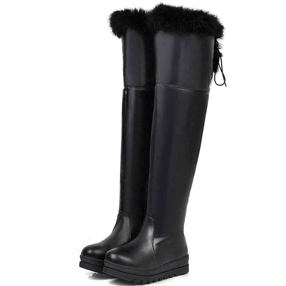 SARAIRIS 2020 Plus Size 43 Rusland Winter Warm Bont Schoenen Vrouw Snowboots Vrouwelijke Schoenen Waterdichte Laarzen Vrouwen Schoenen