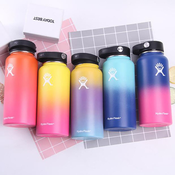 18oz/32oz/40oz Hydro Flask Water Bottle Stainless Steel Vacuum Insulated Wide Mouth Thermos with Leak Proof Multi Colors Bottles