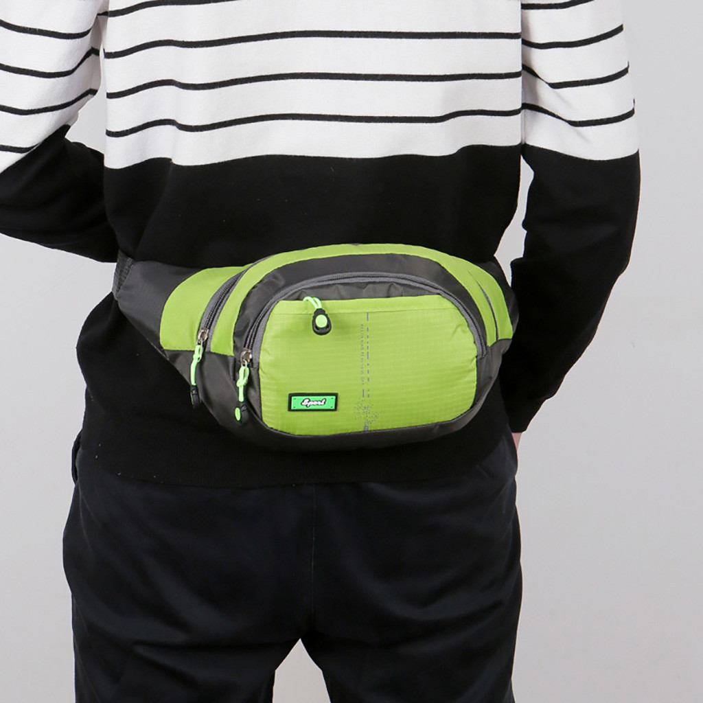 Large Capcacity Alcssic Multi Pack Solid Color Fanny Pack Portable Women Single Shoulder Bag Men Sport Running Chest Pack