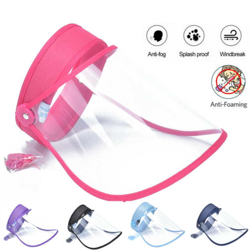 Face Shield Anti-Spitting Protective Cover Saliva-proof Dust-proof Safe Hat Caps A