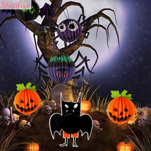 Staraise Hanging Pendant Horror Halloween Decor Pumpkin Spider Bat Party Supplies Kid Prop Accessories