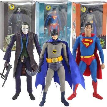 Figura movible de superhéroe del Joker de Batman Superman de 16-17cm colección de figuras de acción de PVC