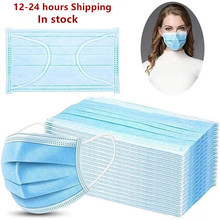 Face Mask Protect 3 Layer Non woven Meltblown Anti Pollution Disposable Masks Anti Pollution Safety Dust Masque Fast Shipping