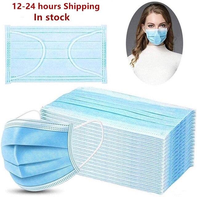 Gesicht Maske Schützen 3 Schicht Nicht woven Schmelzgeblasenen Anti Verschmutzung Einweg Masken Anti Verschmutzung Sicherheit Staub Masque schnelle Versand