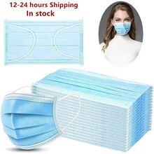 Gezichtsmasker Beschermen 3 Laag Non woven Meltblown Anti Vervuiling Wegwerp Maskers Anti Vervuiling Veiligheid Dust Masque snelle Verzending