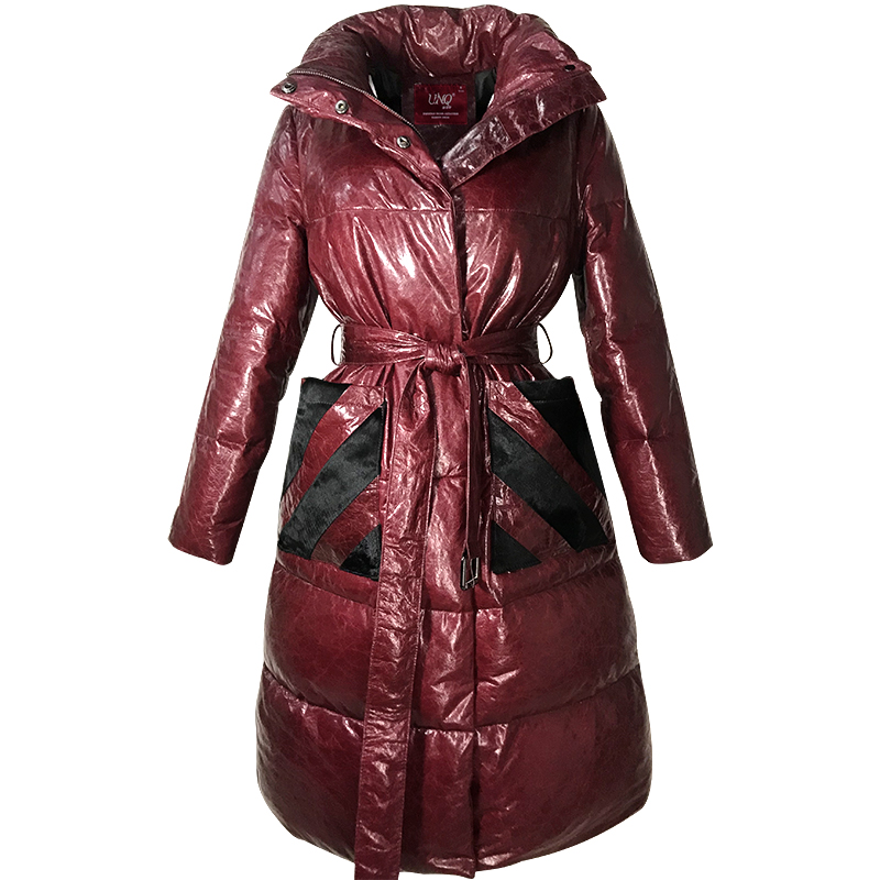 Real Fur   Coat   Female Genuine Leather Jacket Women Clothes 2019 Winter Sheepskin   Coat   White Goose   Down   Korean Vintage Tops ZT4098