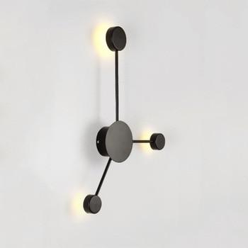 Nordic light wall creative foyer lamp hotel wall sconce lamparas de pared para aplique dormitorio