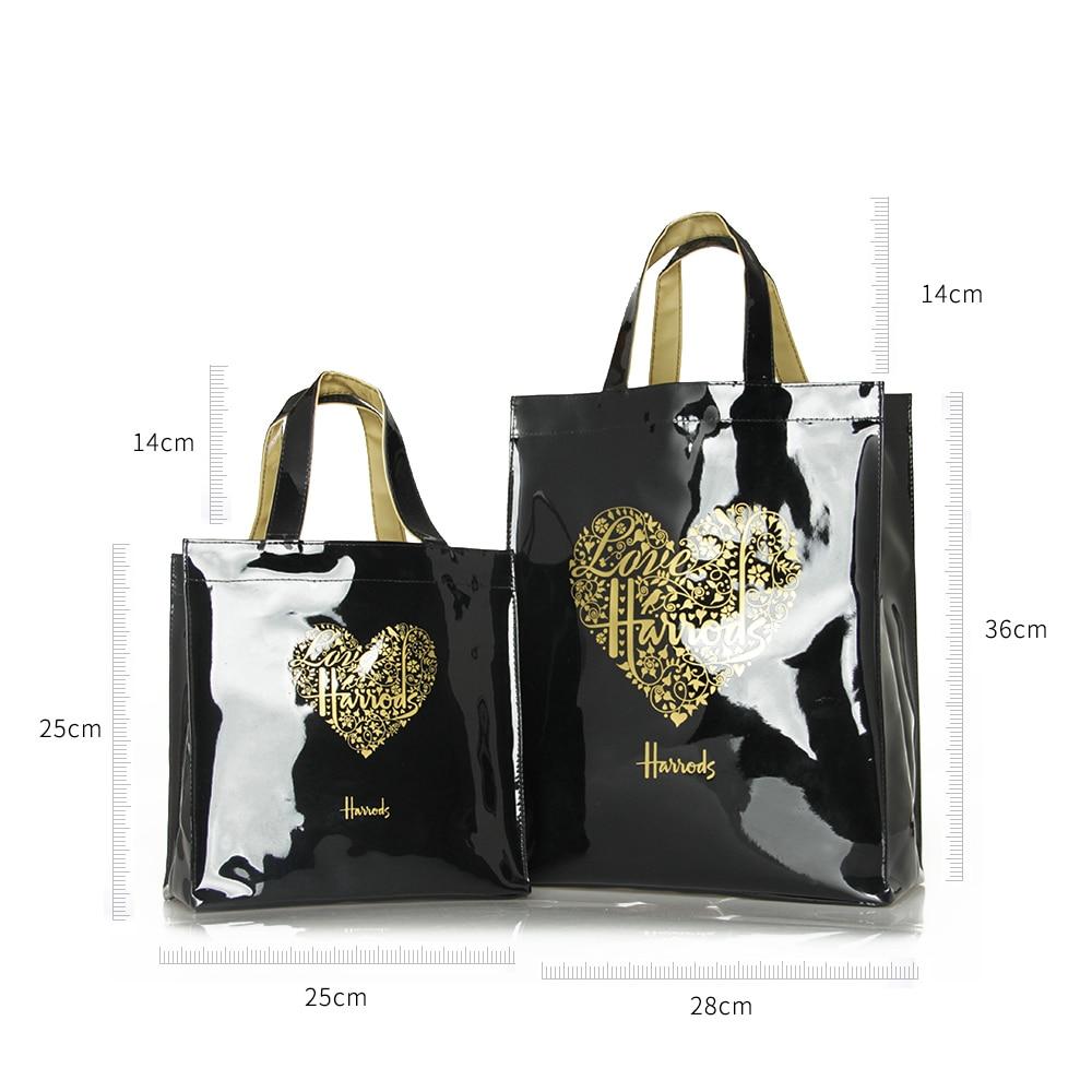Fashion PVC Reusable Shopping Bag Women's Bag Eco Friendly London Shopper Bag Large Capacity Waterproof Handbag Shoulder Bag