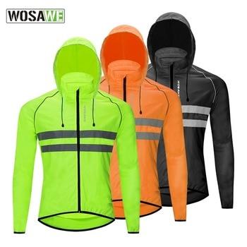 Reflective Windproof Men Cycling Jacket Hooded Waterproof Road Mountain Bike Cycling Windbreaker Riding Bicycle MTB Clothing недорого