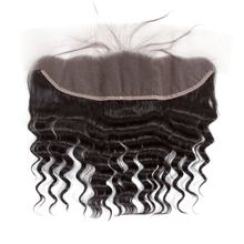 Closure Lace-Frontal 100%Human-Hair Brazilian with Baby-Hair Ear-To-Ear 150%Density Curly