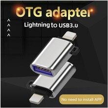 Adaptateur USB 3.0 à éclairage OTG, pour iphone 12 Pro, XS max, XR, X, 10, 8, 7, 6, 6s, 5, 5s, iOS 13