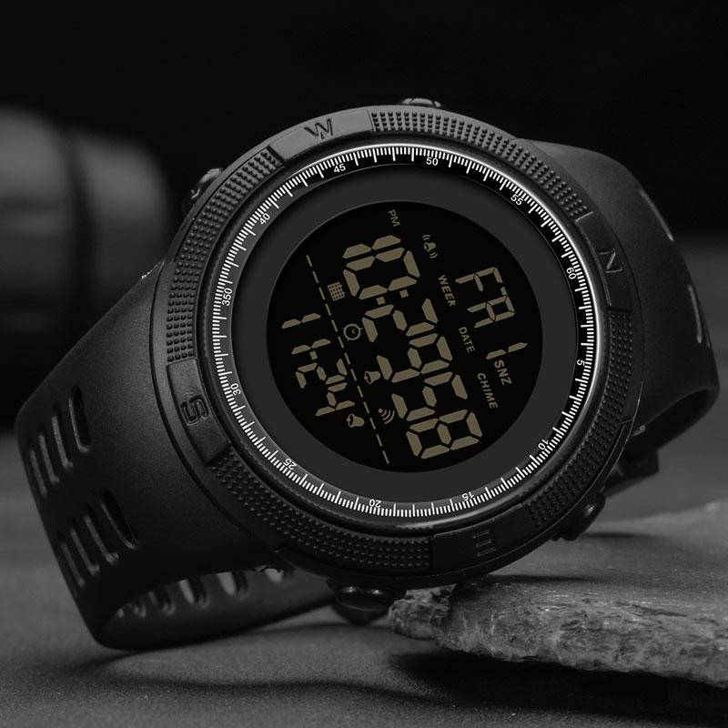 Waterproof Digital Watch Men Sport Watches Electronic LED Male Wrist Watch For Men Clock SANDA Brand Military Army Wristwatch(China)