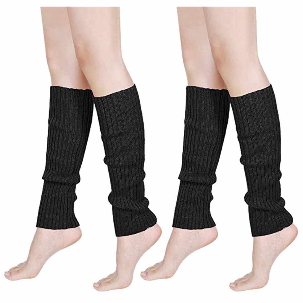 Frau Socken Fitness Fluoreszenz Farbe Streifen Boot Manschetten Wärmer Stricken Bein Partei Strümpfe Weibliche Tragen Socken Beinlinge 20FEB11