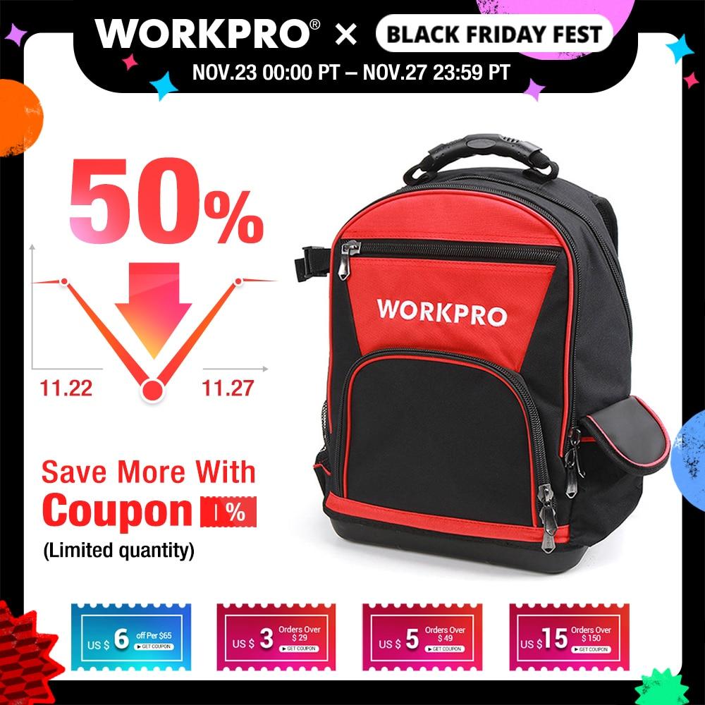 Clearance SaleWORKPRO Waterproof Backpack Handbag Storage-Bags Tools Multifunction-Bags 17--Tool-Bag