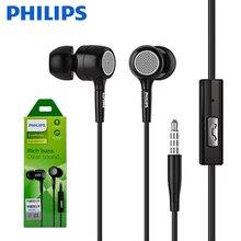 Original Philips SHE1515 Com Fio Fones de Ouvido 3.5 milímetros In ear Plug Preto Música Fone de Ouvido Com Microfone Para Huawei Xiaomi Sumsung